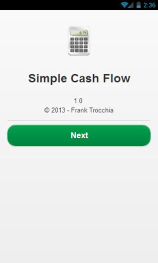 Simple Cash Flow Budget Debt