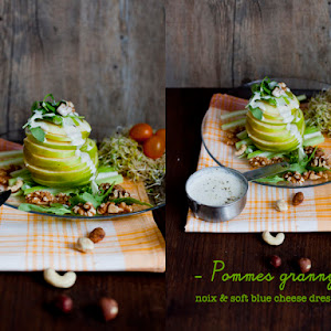 Granny Apples walnuts and soft blue cheese dressing