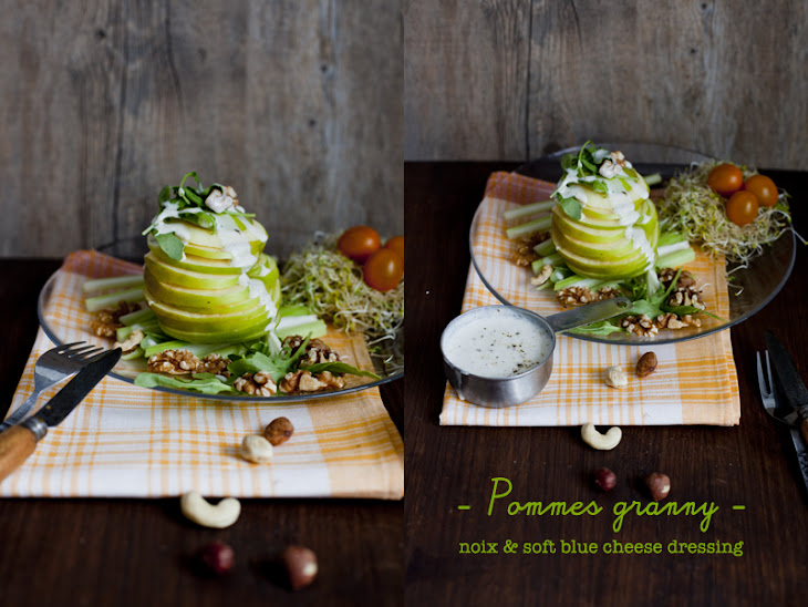 Granny Apples Walnuts and Soft Blue Cheese Dressing Recipe