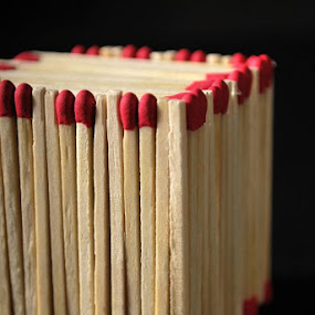 Match Box by Shelly Hendricks - Artistic Objects Other Objects ( pwc, vertical lines )