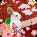 うさぎさんin和ワールド ライブ壁紙 icon
