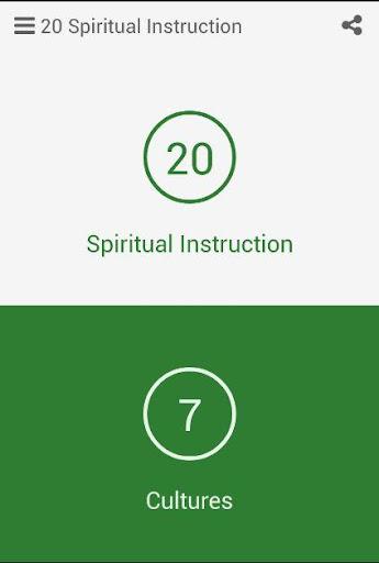 20 Spiritual Instruction
