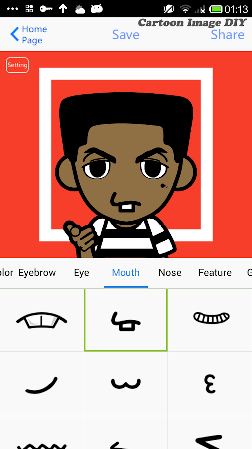 Cartoon Characters App : App where you can make yourself a cartoon character