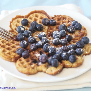 Coconut Blueberry Waffles.
