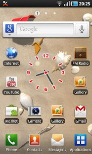 Glass Clock Widget - screenshot thumbnail