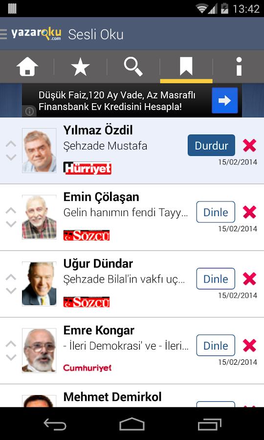 Köşe Yazarları - Yazaroku.Com- screenshot