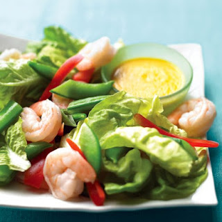 Shrimp and Snap-Pea Salad with Ginger Dressing.