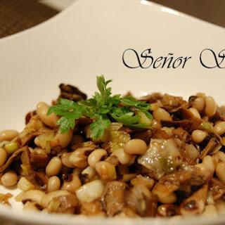 Penny Cap Mushroom and Beans Warm Salad