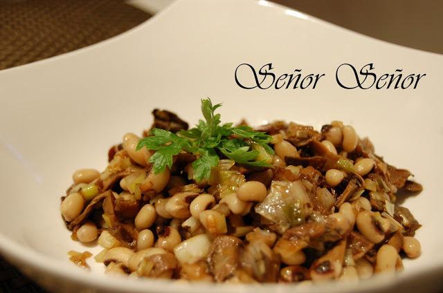 Penny Cap Mushroom and Beans Warm Salad Recipe