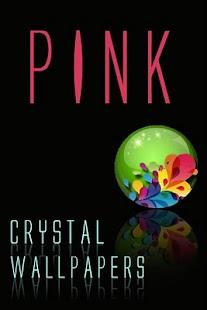 水晶粉紅壁紙