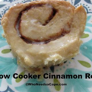 Slow Cooker Cinnamon Rolls.