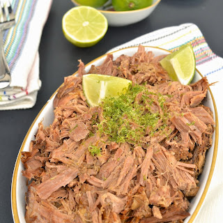 Slow Cooker Coconut Lime Shredded Beef (Paleo, Gluten Free, Beef)