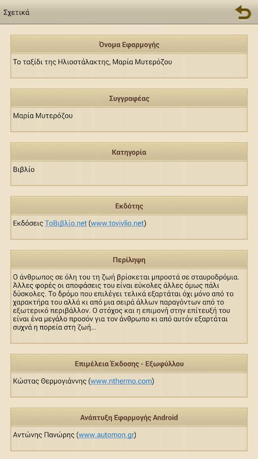 Το ταξίδι της Ηλ…, Μ.Μυτερόζου - screenshot
