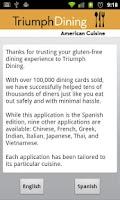 Screenshot of Gluten Free American