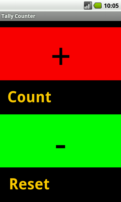 Handy In\Out Tally Counter - screenshot