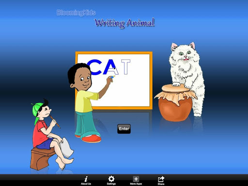 Writing Animal Word