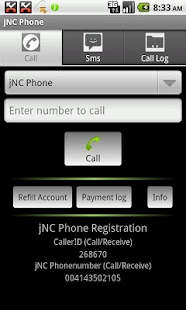 jCom Phone - screenshot thumbnail