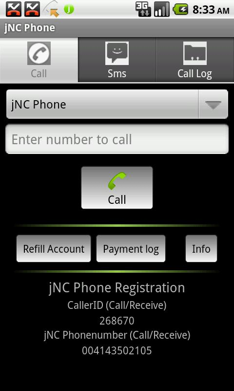 jCom Phone - screenshot