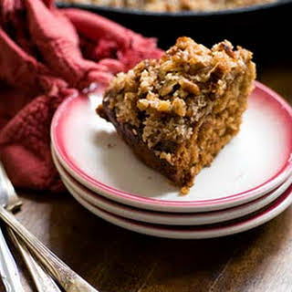 Dr Pepper oatmeal cake with coconut and pecan topping (adapted from The Dallas Morning News).