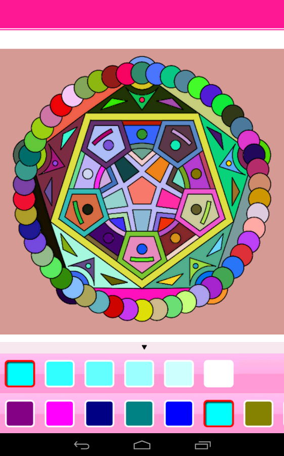coloring mandala android apps on google play. Black Bedroom Furniture Sets. Home Design Ideas