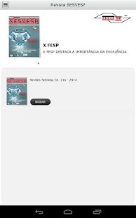 Revista SESVESP - náhled