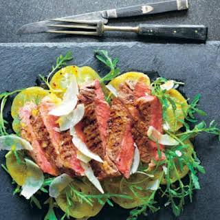 High Steaks! Tagliata With Green Tomatoes, Oregano And Mustard.
