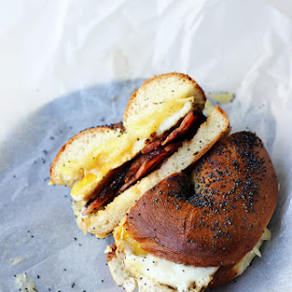 Bacon, Egg and Cheese Bagels {Street Food Monday} Recipe