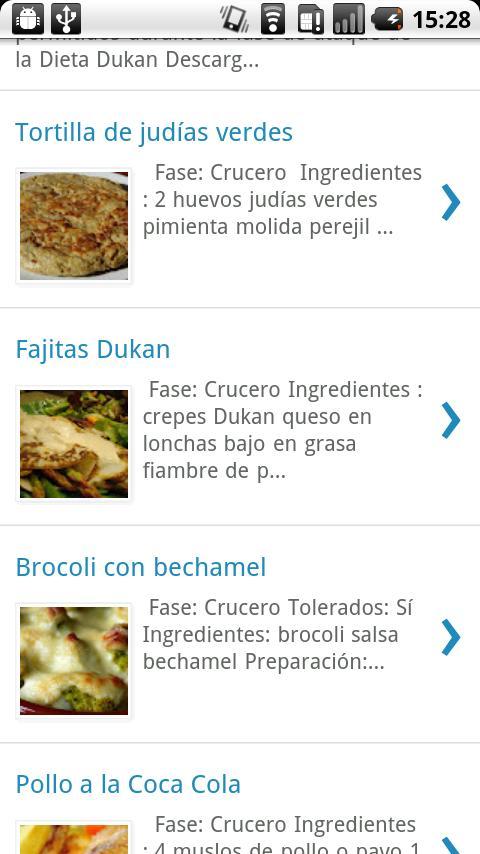 Recetas Dukan- screenshot