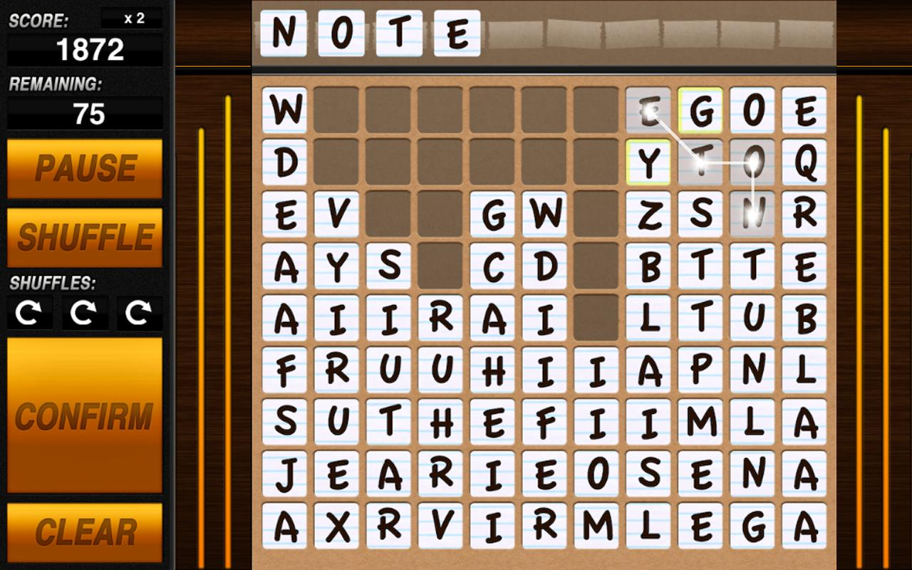 Word-Drop Tablet - screenshot