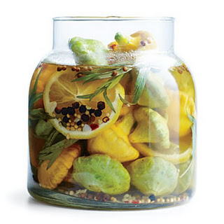Pickled Baby Pattypan Squash.