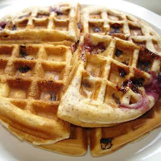Cherry Almond Waffles.