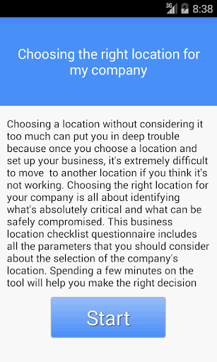 Choose the right location