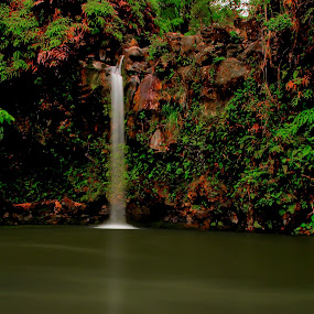 Thin Falls by Eddie Tuggle - Landscapes Waterscapes ( water, hana, waterfall, hawaii )