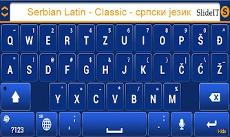 Screenshot of SlideIT Serbian Latin Classic