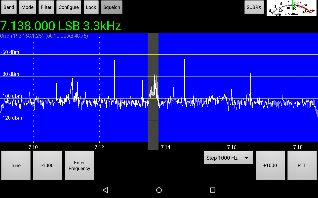 OpenHPSDR Radio- screenshot