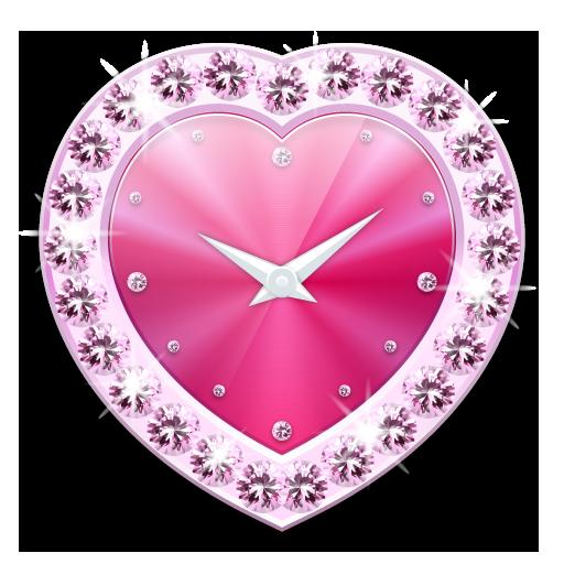 寶石心時鐘部件 -Me Clock Skin LOGO-APP點子