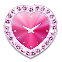 Heart clock widget -Me Clock icon