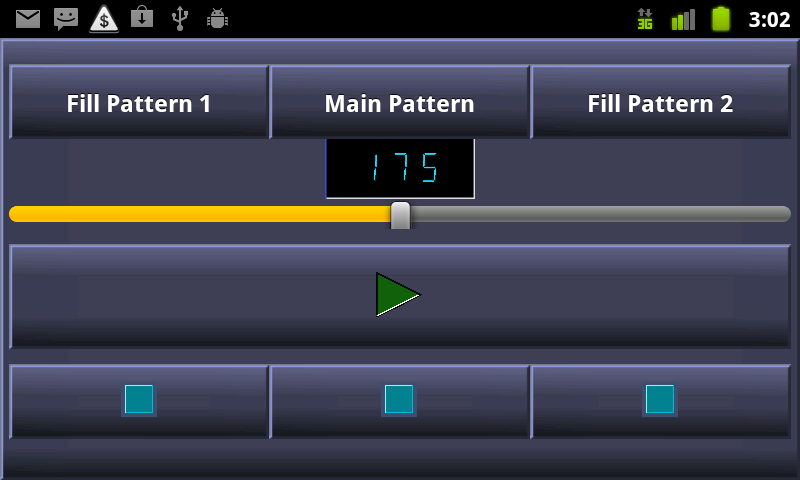 PocketDrummer Android - screenshot