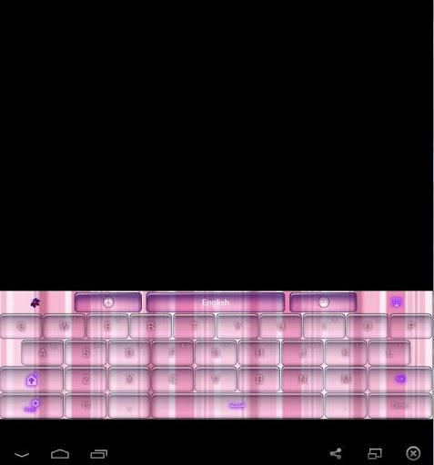 GO Keyboard Pink Stripes Theme