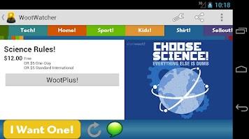 Screenshot of WootWatcher