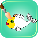 Fish Coloring Games icon
