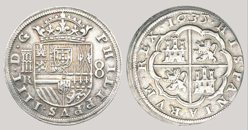 Spanish Empire, Phillip IV, 8 Reales