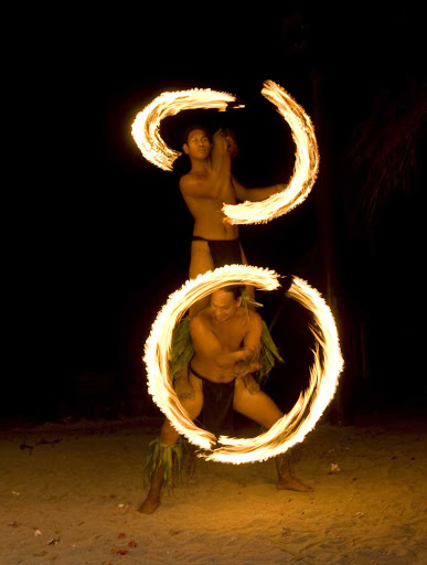 When the sun goes down on Mo'orea, fire dancers light up your night.