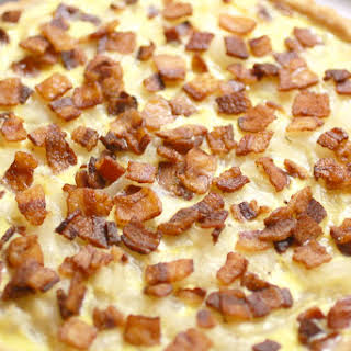 French Onion & Bacon Tart.