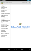 Screenshot of IDEAL Web Math K-8