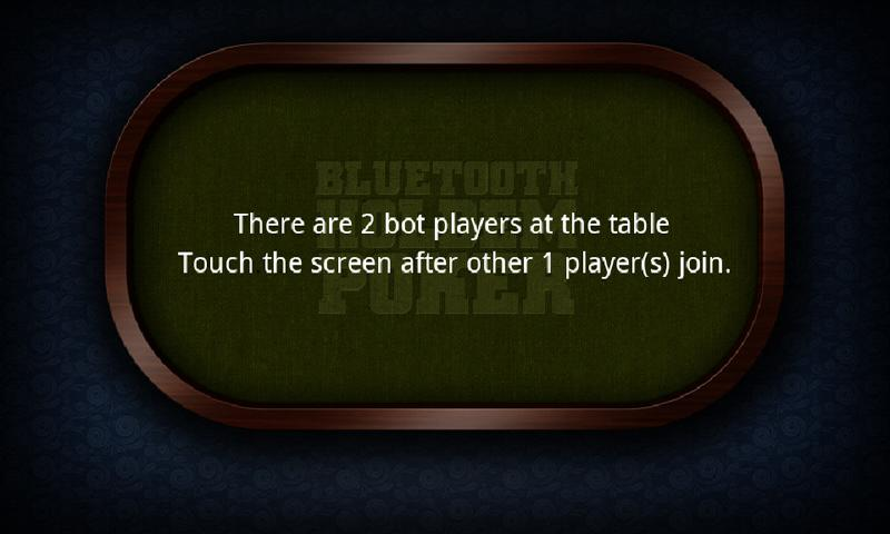 Bluetooth Holdem Poker - screenshot