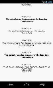 Fonts for FlipFont 157
