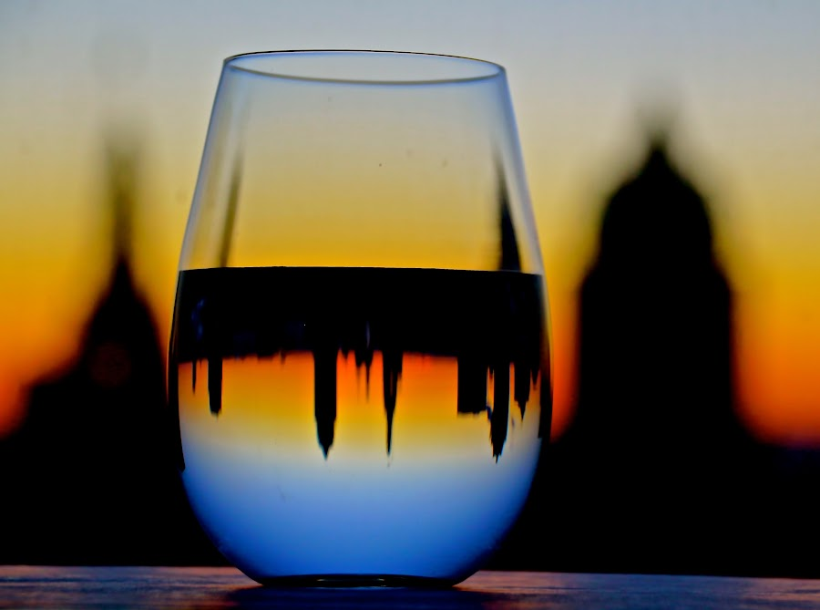 Sunset by Binod Khadka - Artistic Objects Glass ( abstract, nature, color, sunset, landscape )