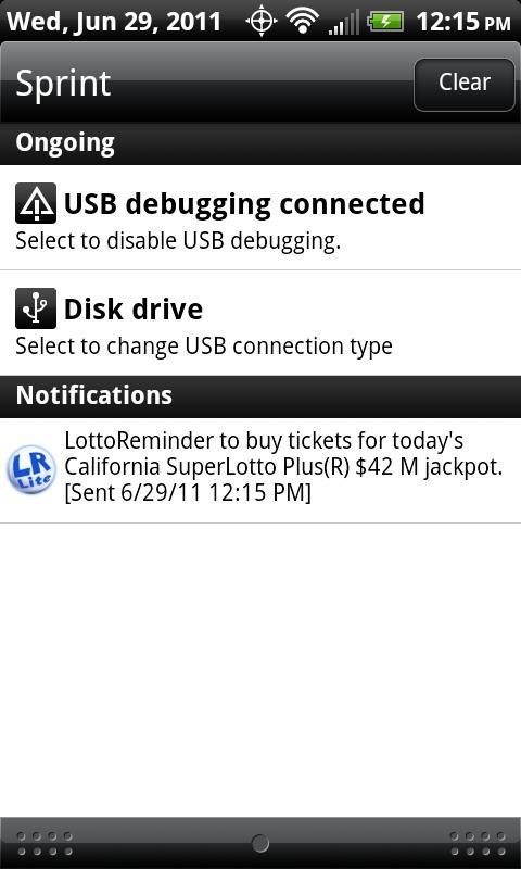LottoReminder Lite- screenshot