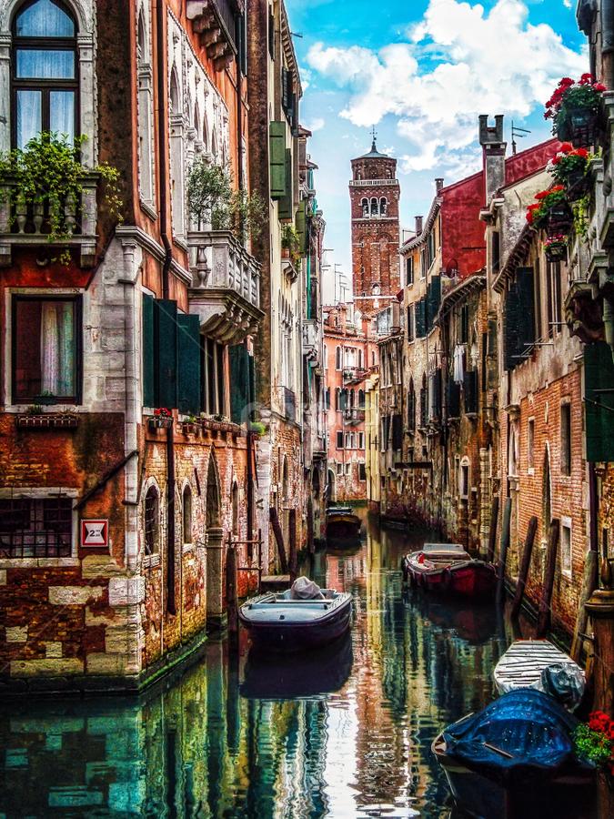 Venice by Andrea Conti - City,  Street & Park  Historic Districts ( history, water, venezia, reflection, boats, buildings, venice, cityscape, italy, canal,  )